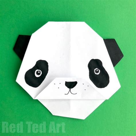 Easy Origami Panda - origami panda easy ted s