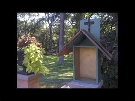 how to make a backyard how to make a catholic backyard shrine youtube