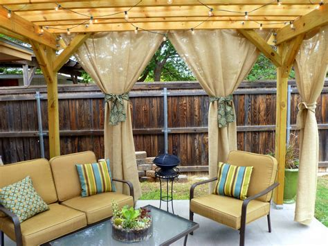 how to make patio curtains patio roof curtains
