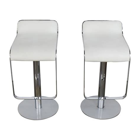 modern white bar stools 88 off all modern all modern white leather bar stools chairs