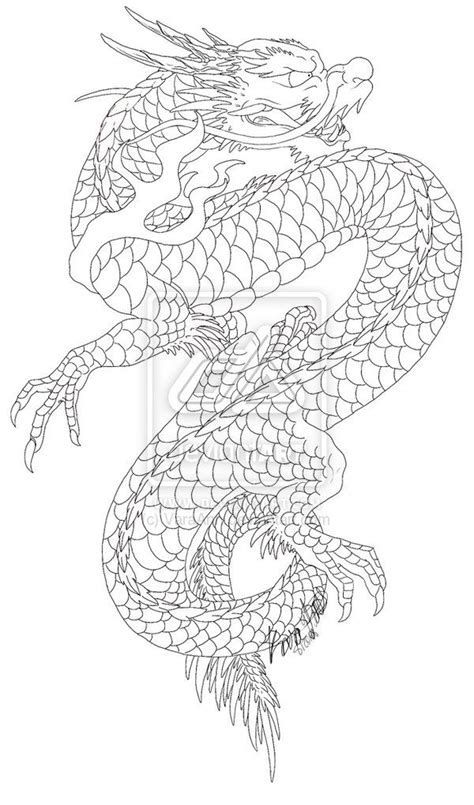 tattoo japanese outline image gallery japanese dragon tattoo flash