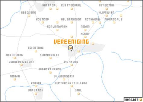 map of vereeniging vereeniging south africa map nona net