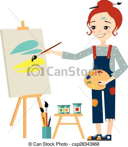 artist clipart artist painting on canvas clip 67