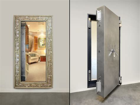 secure room custom mirrored vault door stashvault