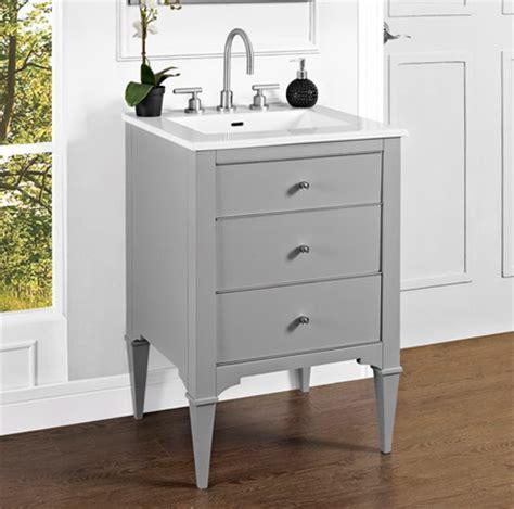 charlottesville 24 quot vanity light gray fairmont designs