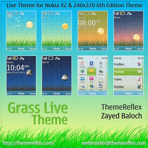 nokia x2 watch themes grass live theme for nokia x2 240 215 320 themereflex