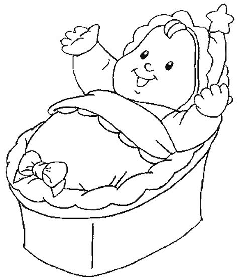 printable baby free coloring sheet today