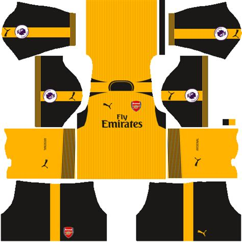 arsenal kit dream league 2017 kits uniformes para fts 15 y dream league soccer kits