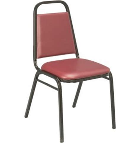 kfi basic padded stacking chair vinyl  seat stacking chairs