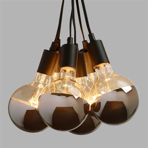 Light Bulb Pendants Chrome Tip 6 Bulb Cluster Pendant L World Market
