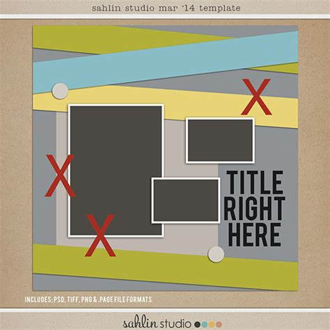 Free Digital Scrapbooking Template Mar 2014 Sahlin Studio Digital Scrapbooking Designs Digital Scrapbooking Templates