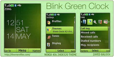 nokia x2 apple themes blink green clock theme for nokia x2 240 215 320 themereflex