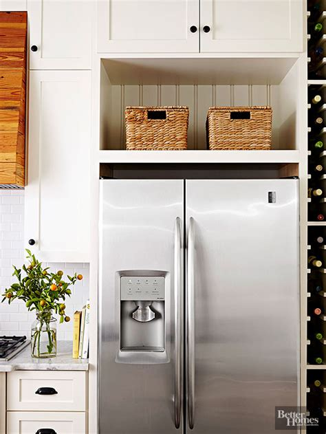 space between top of refrigerator and cabinet new kitchens with fresh ideas wine tower kitchen
