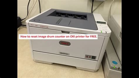 Reset Oki Printer | how to reset image drum counter on oki printer for free