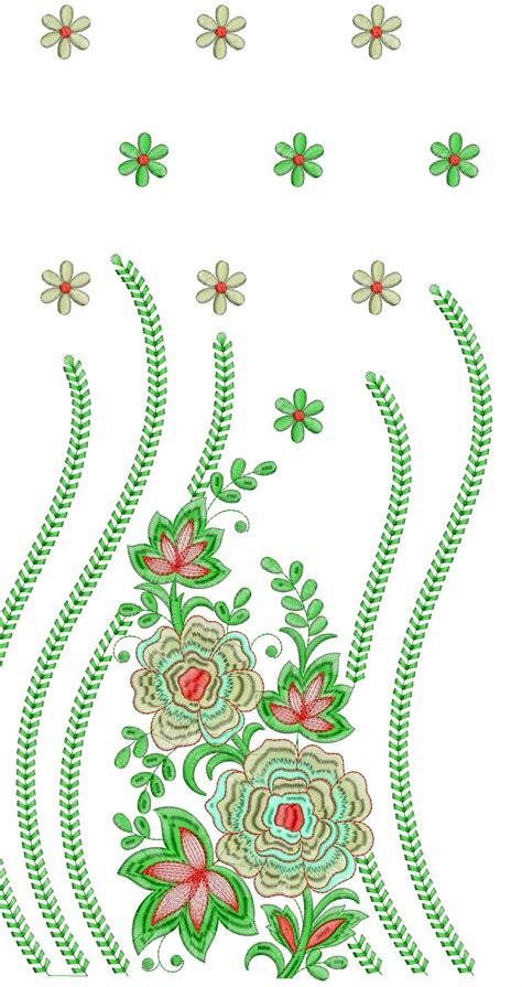 u design embroidery embdesigntube daman 250 top dupatta embroidery design