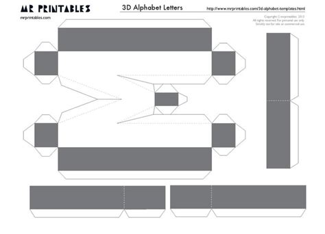 46 Best Letras 3d Images On Pinterest 3d Letters Letters And Papercraft 3d Letters Template