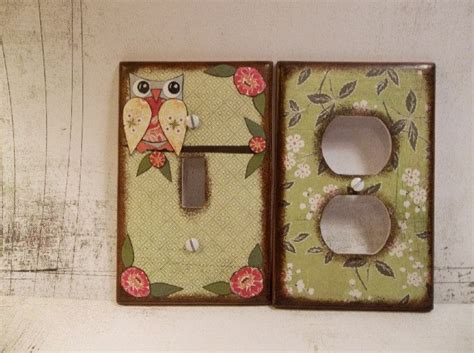 Decoupage Light Switch Covers - 17 best images about owls for the nursery on