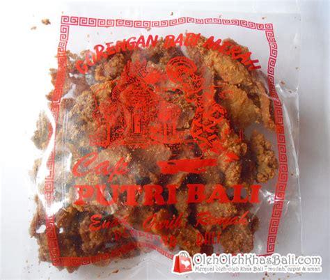 Krupuk Babi Bali Cap Babi Lima gorengan babi merah cap putri bali oleh oleh khas bali menjual oleh oleh khas pulau bali