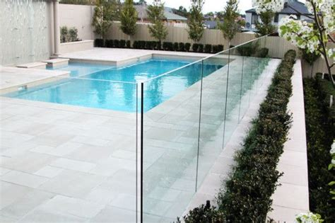 mm  channel frame  glass pool fencing glass pool