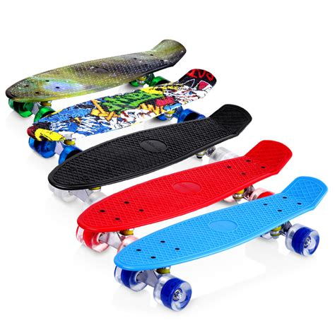 Skateboard Bananaboard Pennyboard Fishboard Roda Pu complete skateboard fish mini cruiser banana board deck children school au ebay