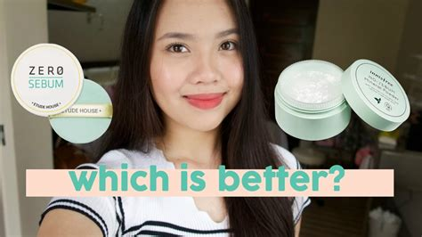 Etude No Sebum innisfree no sebum or etude house zero sebum powder ph