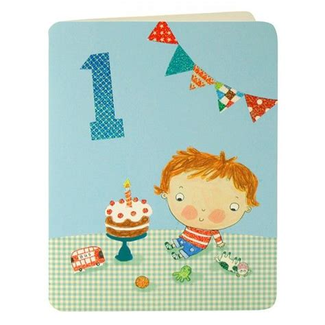 1st Birthday Cards Baby Boys First Birthday Card Karenza Paperie