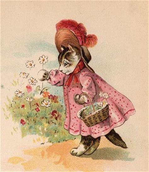 victorian graphic kitty  pink dress  graphics fairy