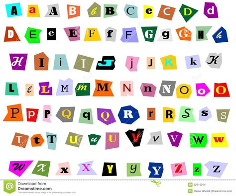Letter Collage Maker collage alphabet stock photo image of advertisement