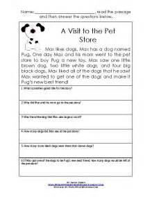 16 best images of reading comprehension worksheets grade 1