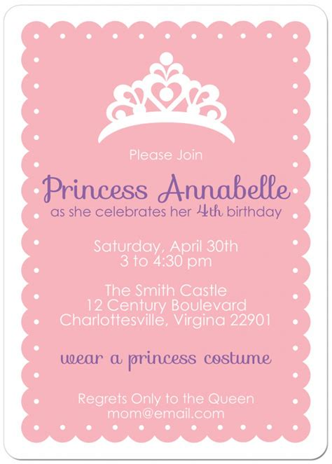 10 best images of free printable princess invitation