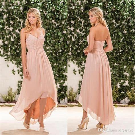 beach wedding dresses guest 2017 cheap simple beach peach pink bridesmaid dresses 2017