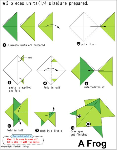 How To Fold An Origami Frog - origami a frog