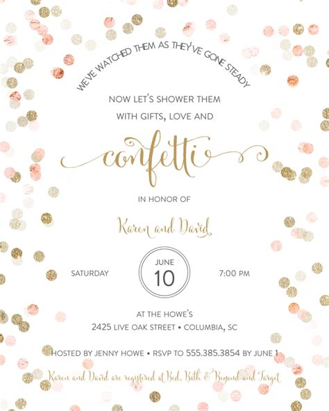 Wedding Announcement Phrases by Bridal Shower Invitation Wording Ideas And Etiquette