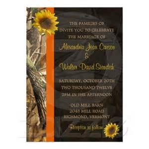 Camo amp sunflowers wedding invitations favorite places amp spaces pi