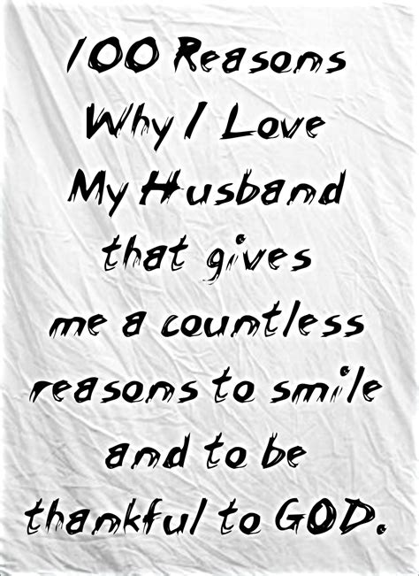 15 Reasons I My Husband by 100 Reasons Why I My Husband Of