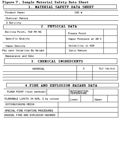 material safety data sheet template free managing hazardous materials incidents volume ii