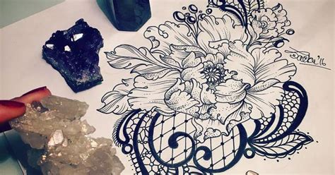 christian johansson tattoo flower with lace tattoo inspiration victorian floral