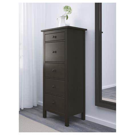 Hemnes Chest Of Drawers by Hemnes Chest Of 5 Drawers Black Brown 58x131 Cm