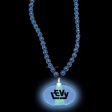 light blue pendant necklace blue oval light up pendant with beaded necklace china