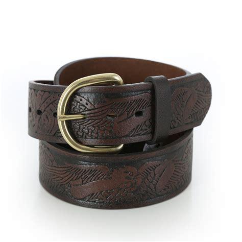 wrangler s synthetic leather belt eagle