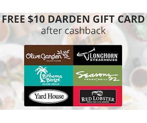 Topcashback Gift Cards - topcashback free 10 darden gift card free product sles