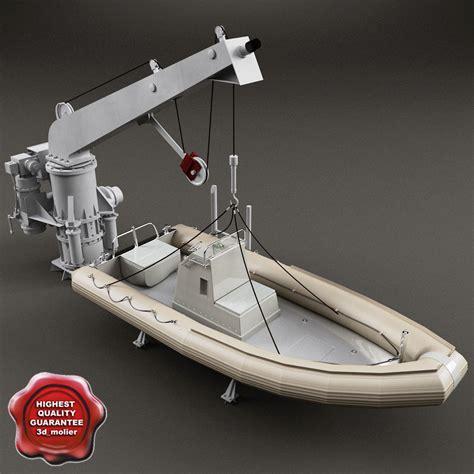 parts of a rescue boat 3d model boat davit rescue