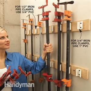 Snap On Tool Bench Storage How To Store Clamps The Family Handyman