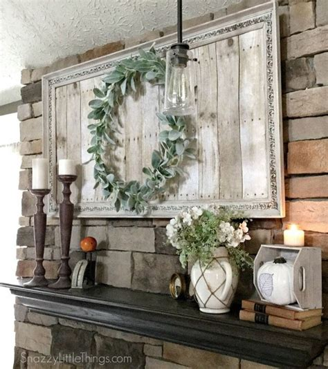 Fun Bedroom Decorating Ideas Farmhouse Style Mantel With Repurposed Art Cleveland