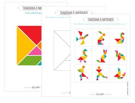 Mod 232 Les De Tangram 224 Imprimer Momes Net