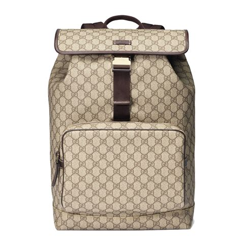 Bag Gucci Brown Kode 6138 gucci backpack travel gg plus guccissima beige brown