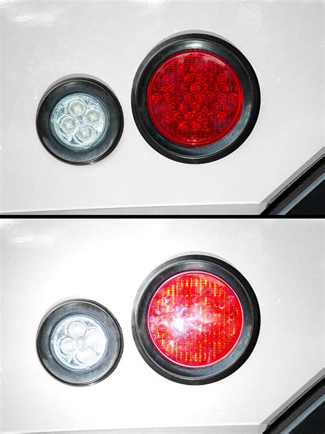 4 round led lights round led truck and trailer lights w reflector 4 quot led