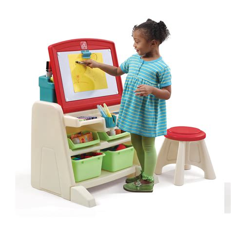 step 2 kids desk flip doodle easel desk with stool kids art desk step2