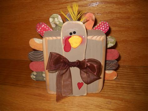 thanksgiving craft project 2x4 thanksgiving turkey tutorial u create