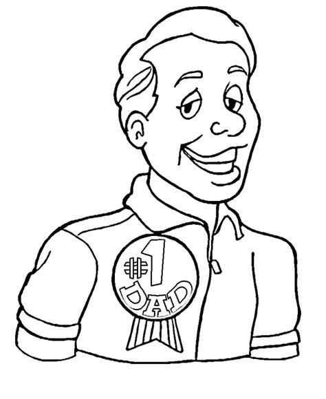 free number 1 dad coloring pages